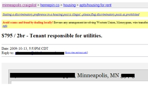 tenant pays utilities