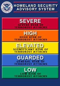 homeland security threat level today